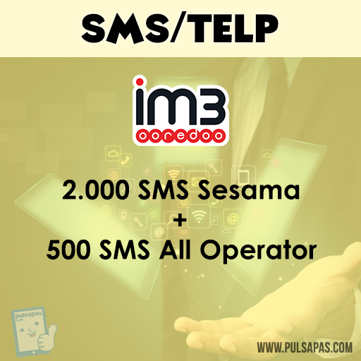 Paket SMS + Telp Indosat SMS - SMS 2.000 sesama + SMS 500 All op - 30 hari