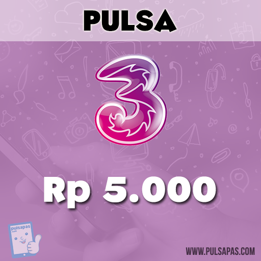 Pulsa Three - Three 5 rb