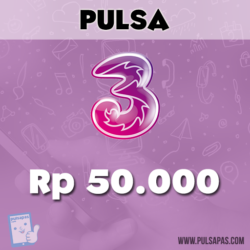 Pulsa Three - Three 50 rb