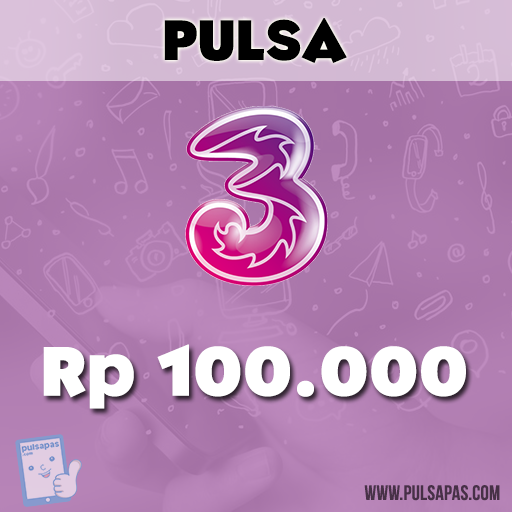 Pulsa Three - Three 100 rb